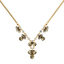 Buy Monet Glass Crystal Statement Necklace, Gold/Multi Online at johnlewis.com