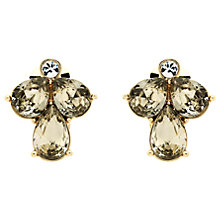 Buy Monet Glass Crystal Teardrop Clip-On Earrings, Gold/Multi Online at johnlewis.com