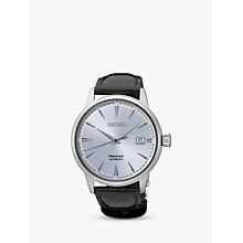 Buy Seiko Men's Presage Automatic Date Leather Strap Watch Online at johnlewis.com