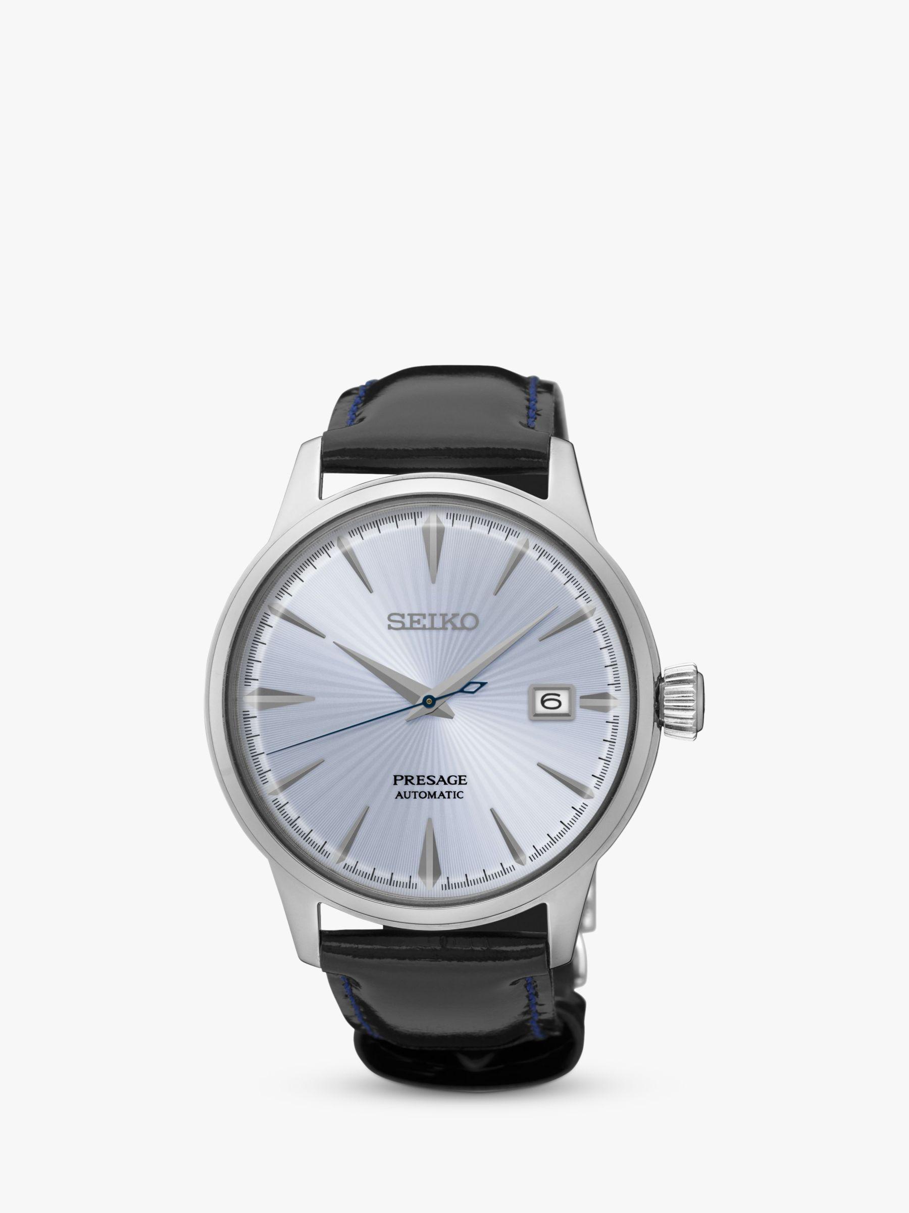 Seiko Seiko Men's Presage Automatic Date Leather Strap Watch