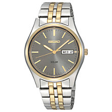 Buy Seiko Coutura SNE042P9 Men's Two Tone Stainless Steel Five Chain Bracelet Strap Watch, Gold/Silver Online at johnlewis.com