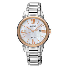 Buy Seiko Women's Conceptual Solar Date Bracelet Strap Watch Online at johnlewis.com