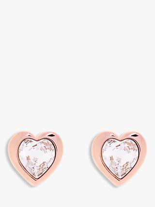 Ted Baker Hanella Swarovski Crystal Heart Stud Earrings