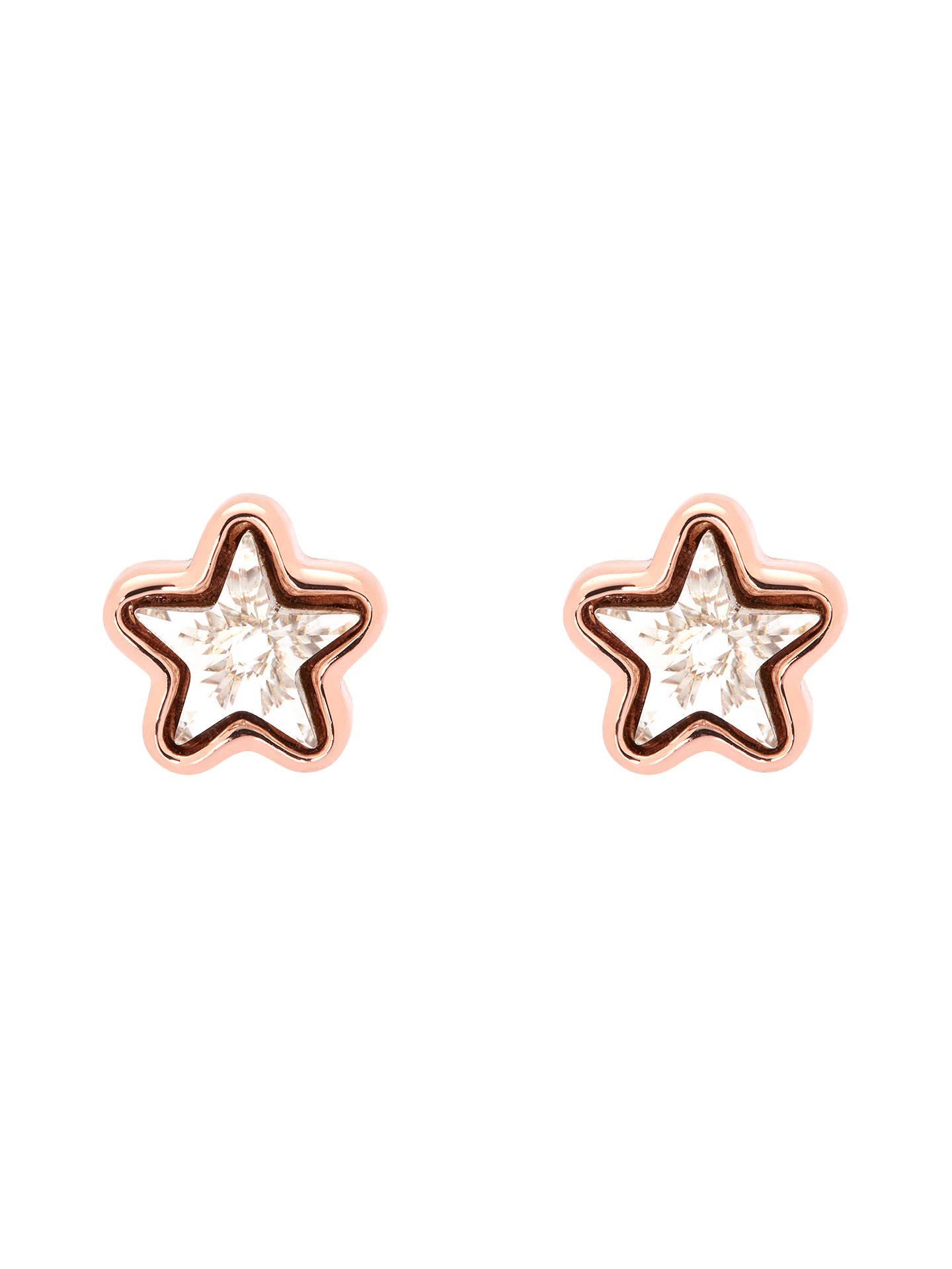 Ted Baker Cathlyn Swarovski Crystal Star Stud Earrings Rose Gold Online At Johnlewis