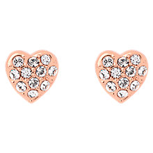 Buy Ted Baker Pave Crystal Heart Stud Earrings Online at johnlewis.com
