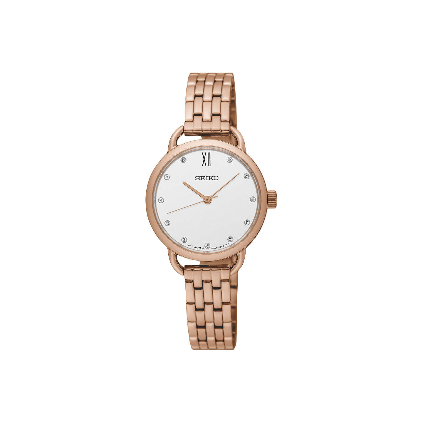 image goldtone eternity swarovski ladies crystal watch itm strap bezel is watches rose bracelet loading
