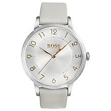 Buy HUGO BOSS Women's Eclipse Leather Strap Watch Online at johnlewis.com