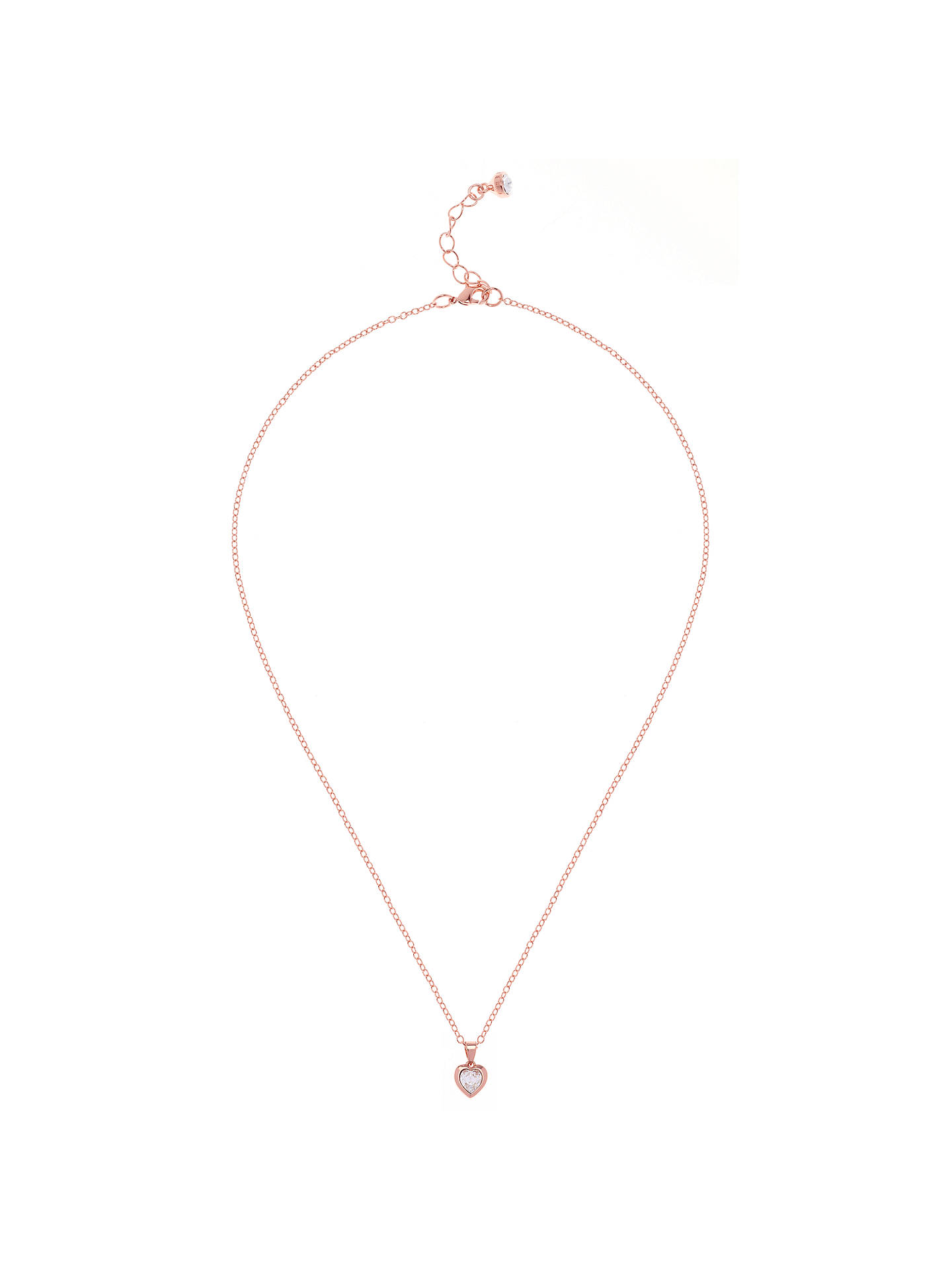 BuyTed Baker Hannela Swarovski Crystal Heart Necklace, Rose Gold/Clear Online at johnlewis.com