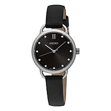 Buy Seiko Women's Conceptual Leather Strap Watch Online at johnlewis.com