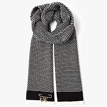 Buy Coach Icon Merino Wool Charm Scarf, Black/Chalk Online at johnlewis.com