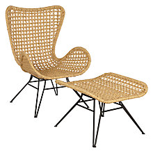 Buy John Lewis Safi Chair and Footstool, Natural Online at johnlewis.com