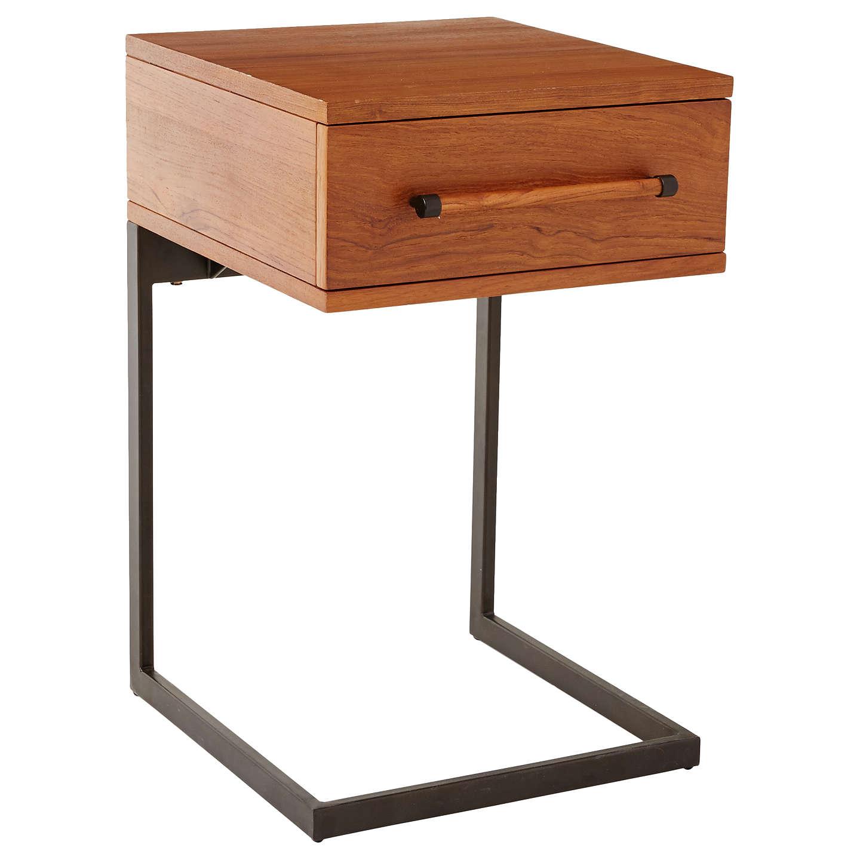West Elm Nash 1 Drawer Bedside Table At Johnlewis Com