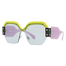 Buy Miu Miu MU 09SS Oversize Square Sunglasses Online at johnlewis.com