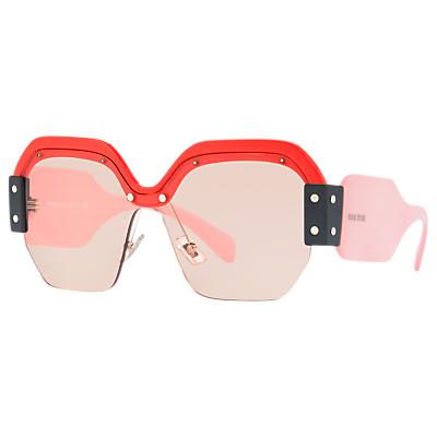 Miu Miu MU 09SS Oversize Square Sunglasses