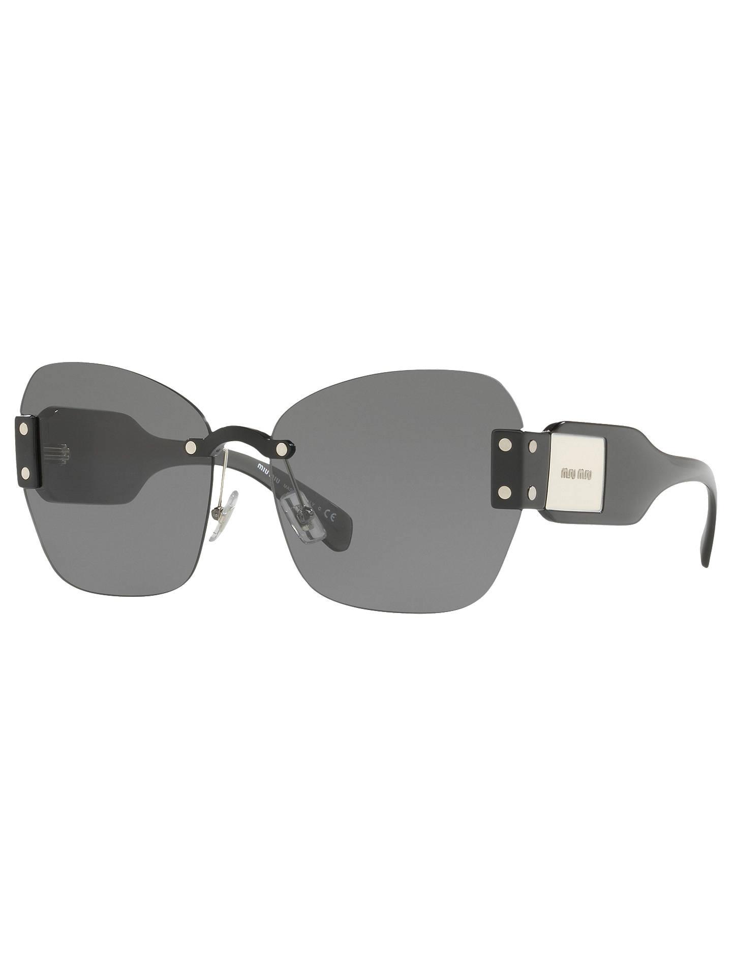 99fa0ddecf91 Miu Miu MU 08SS Oversize Cat s Eye Sunglasses at John Lewis   Partners