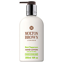 Buy Molton Brown Black Peppercorn Hand Lotion, 300ml Online at johnlewis.com