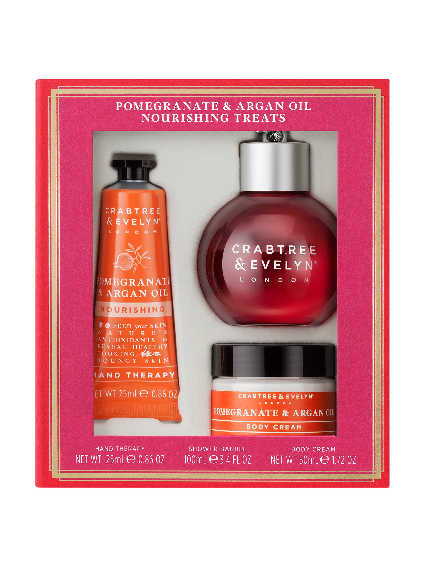 Crabtree & Evelyn Pomegranate & Argan Oil Nourishing Treats Gift Set