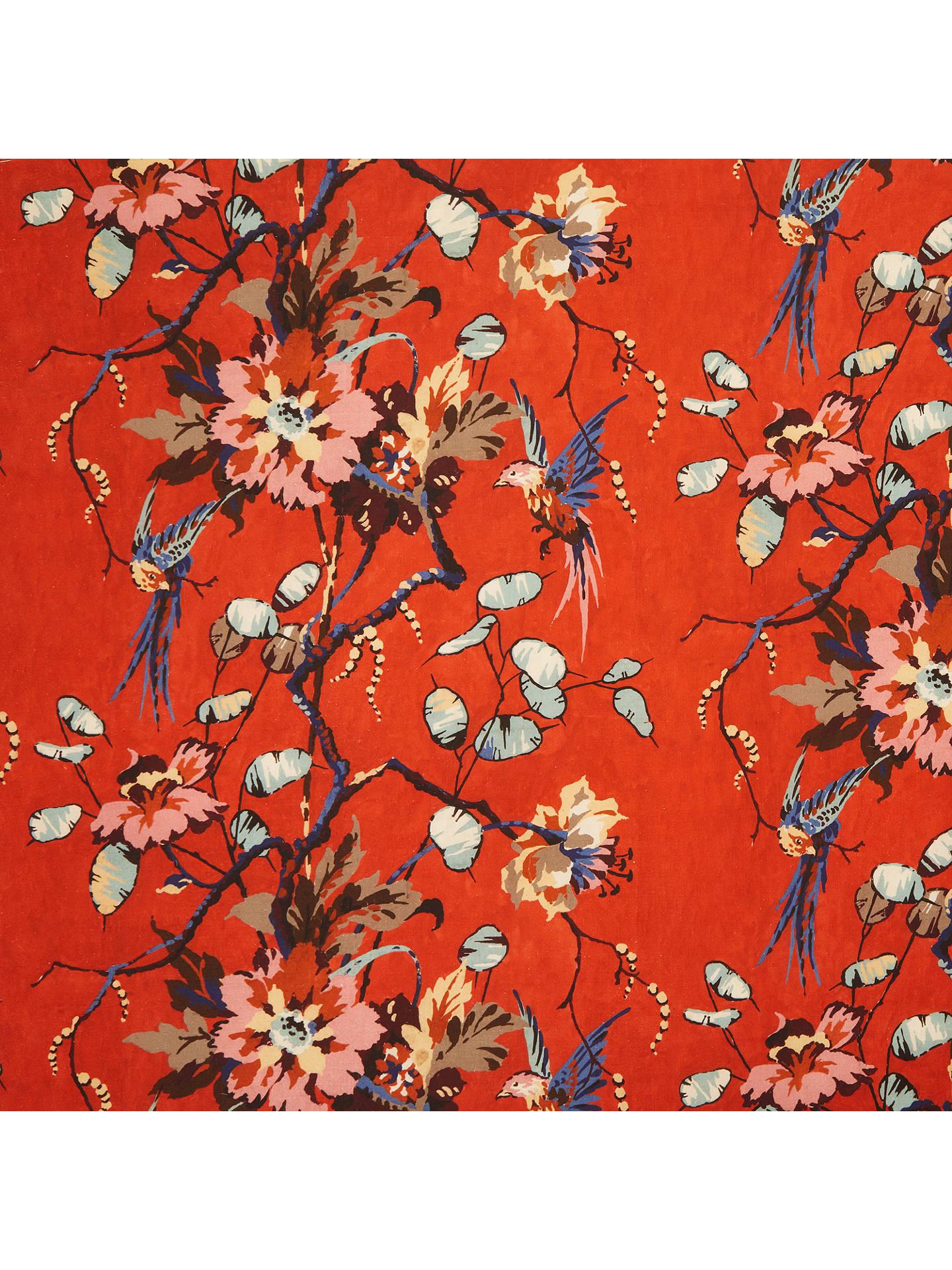 John Lewis Partners Katrin Furnishing Fabric Red Online At Johnlewis