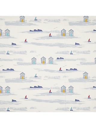 John Lewis & Partners Margate Beach Huts Furnishing Fabric, Blue