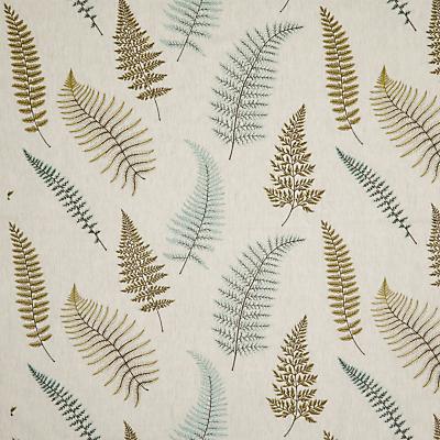 John Lewis & Partners Fern Embroidery Furnishing Fabric, Green