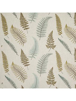 John Lewis & Partners Fern Embroidery Furnishing Fabric, Green