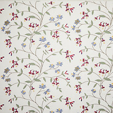 Buy John Lewis Avebury Embroidery Furnishing Fabric, Pink Online at johnlewis.com