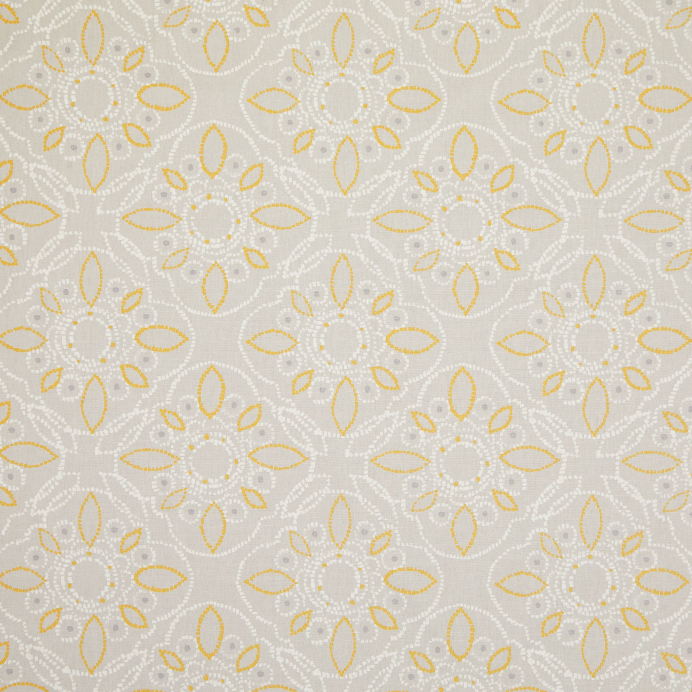 John Lewis & Partners Kasmanda PVC Tablecloth Fabric, Saffron