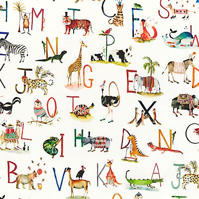 Prestigious Textiles Animal Alphabet PVC Tablecloth Fabric, Multi