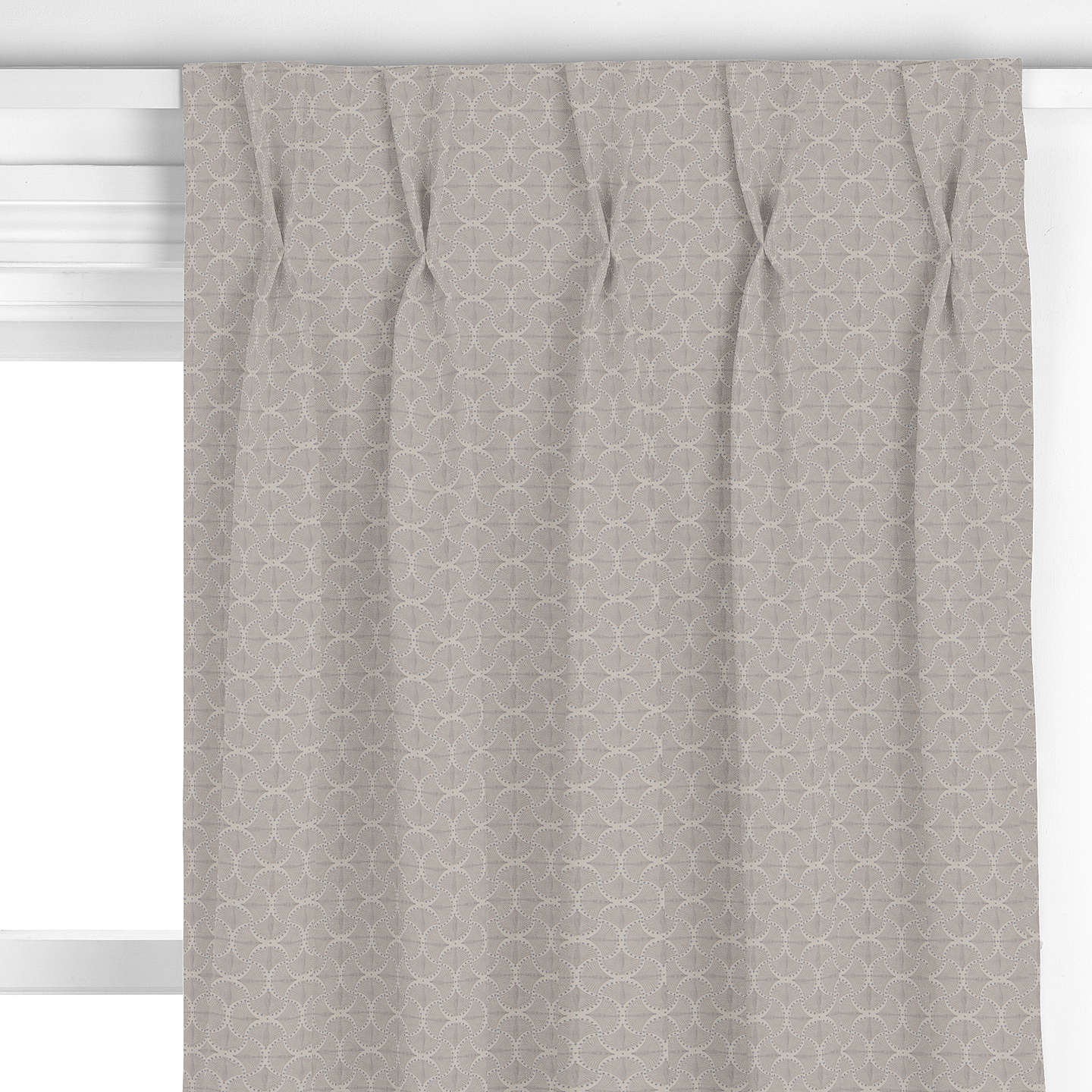 BuyGenevieve Bennett for John Lewis Deco Palm Curtain, Blue Grey Online at johnlewis.com