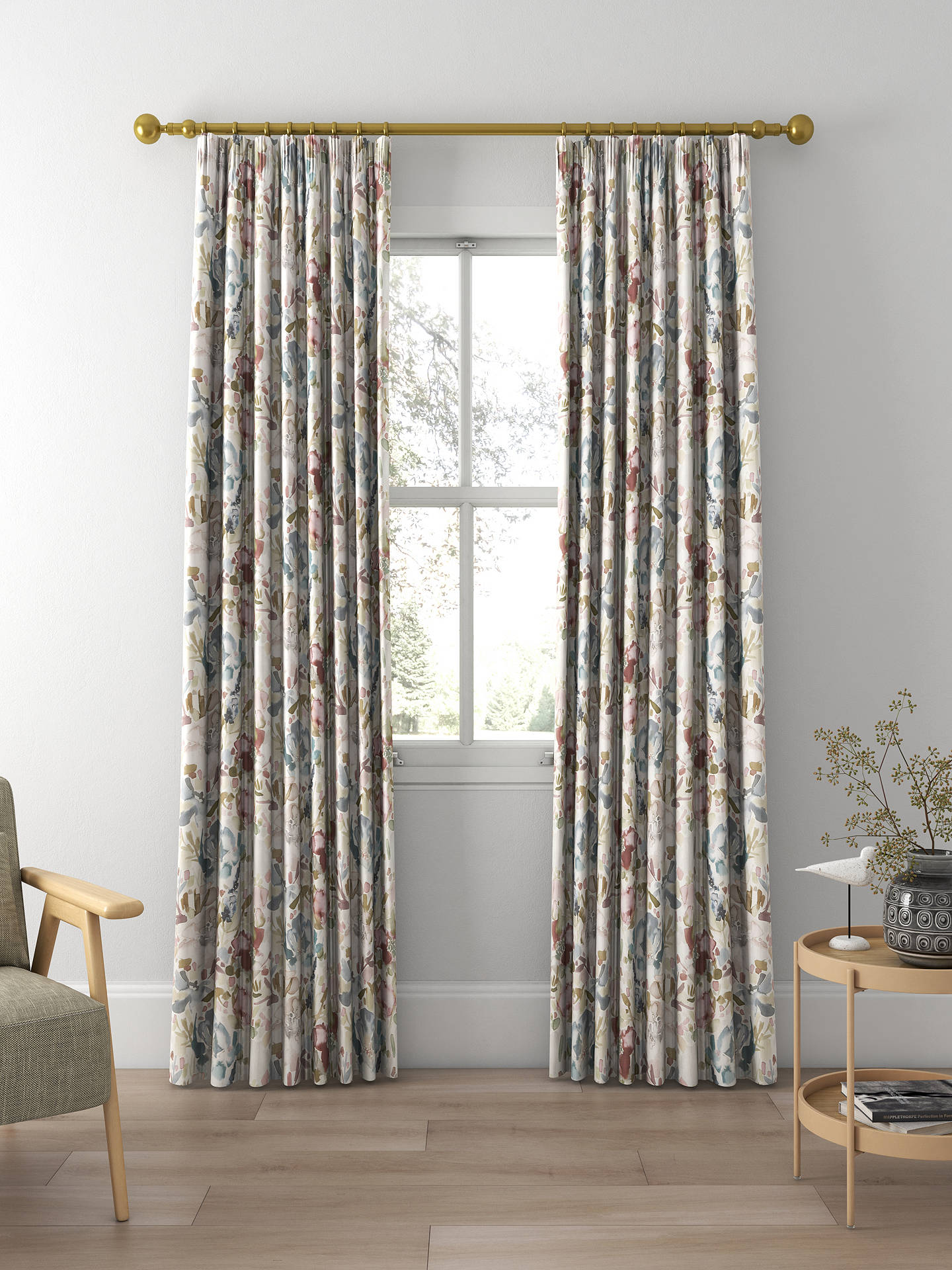 Croft Collection Mirren Made To Measure Curtains Purple