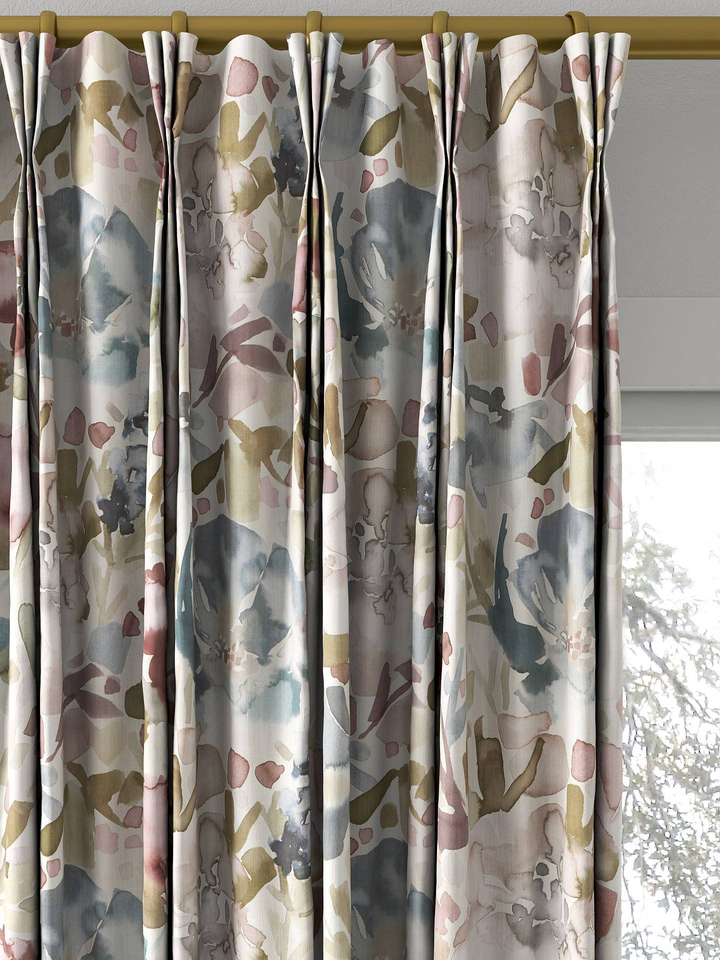 BuyCroft Collection Mirren Made To Measure Curtains Purple Online At Johnlewis