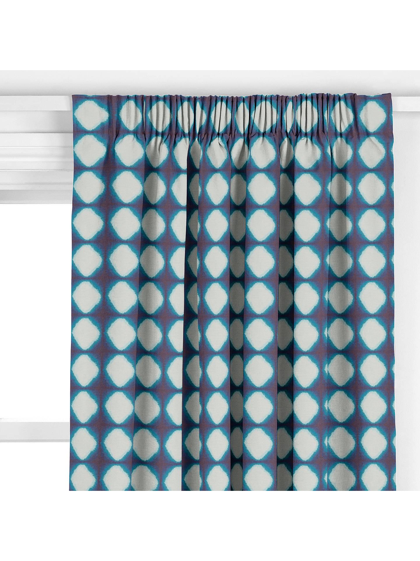 John Lewis & Partners Shibori Curtain, Blue