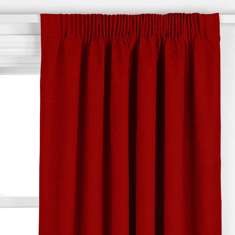 Voyage Mimosa Velvet Curtain, Red at John Lewis