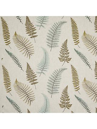 John Lewis & Partners Fern Embroidery Made to Measure Curtains or Roman Blind, Green
