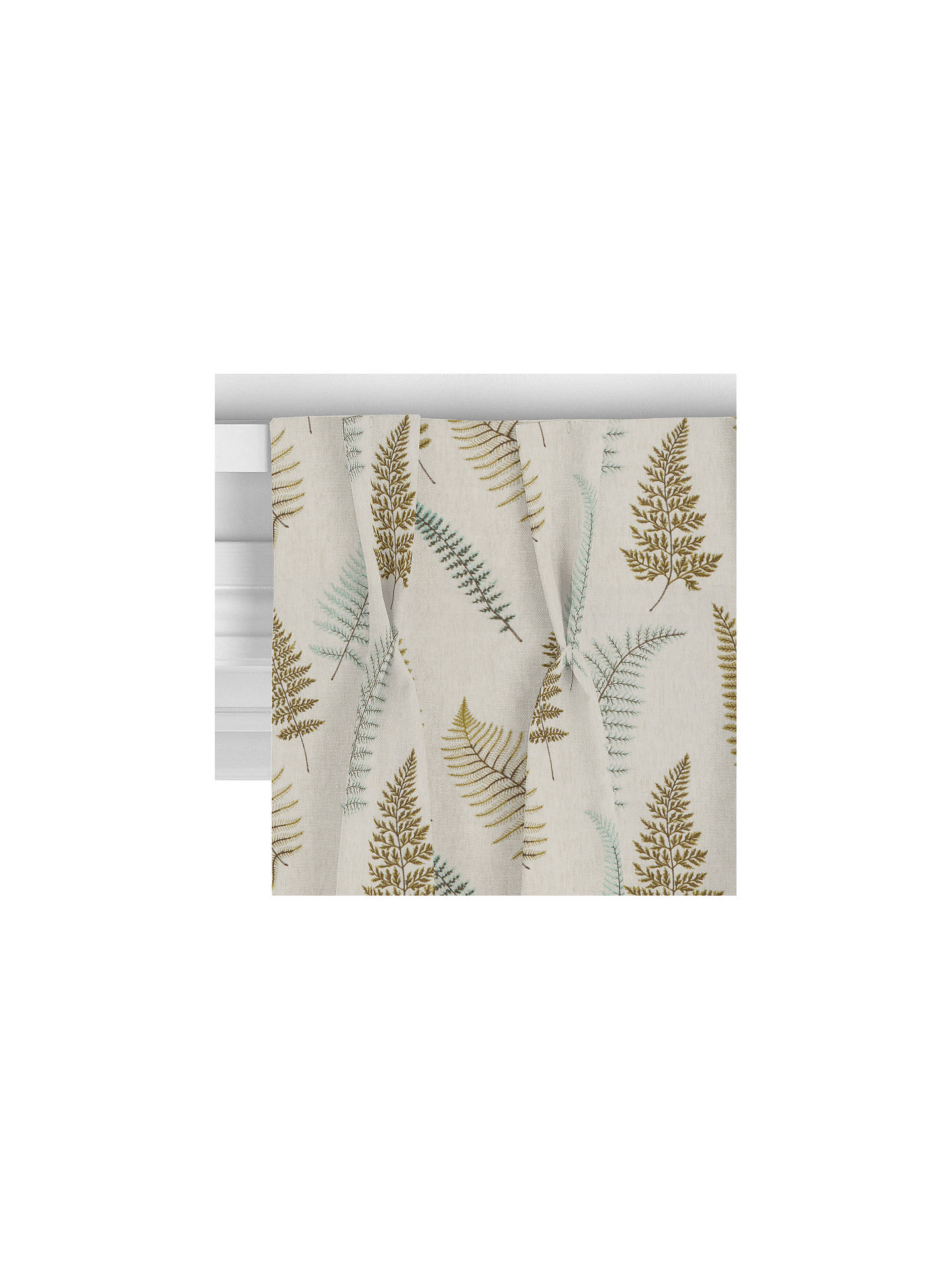 BuyJohn Lewis & Partners Fern Embroidery Curtain, Green Online at johnlewis.com