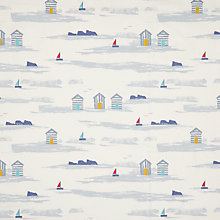 Buy John Lewis Margate Beach Huts Curtain, Blue Online at johnlewis.com