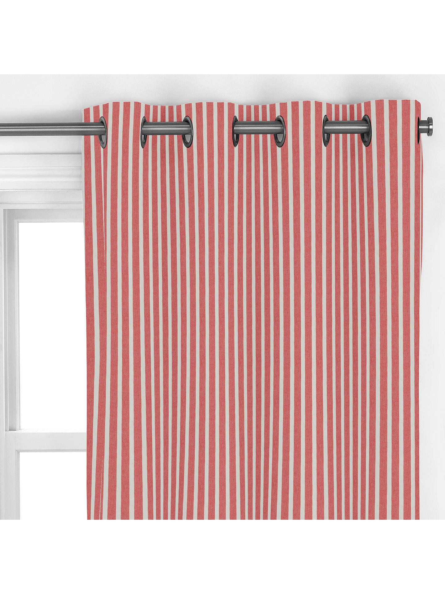 John Lewis Amp Partners Solva Stripe Curtain Red At John