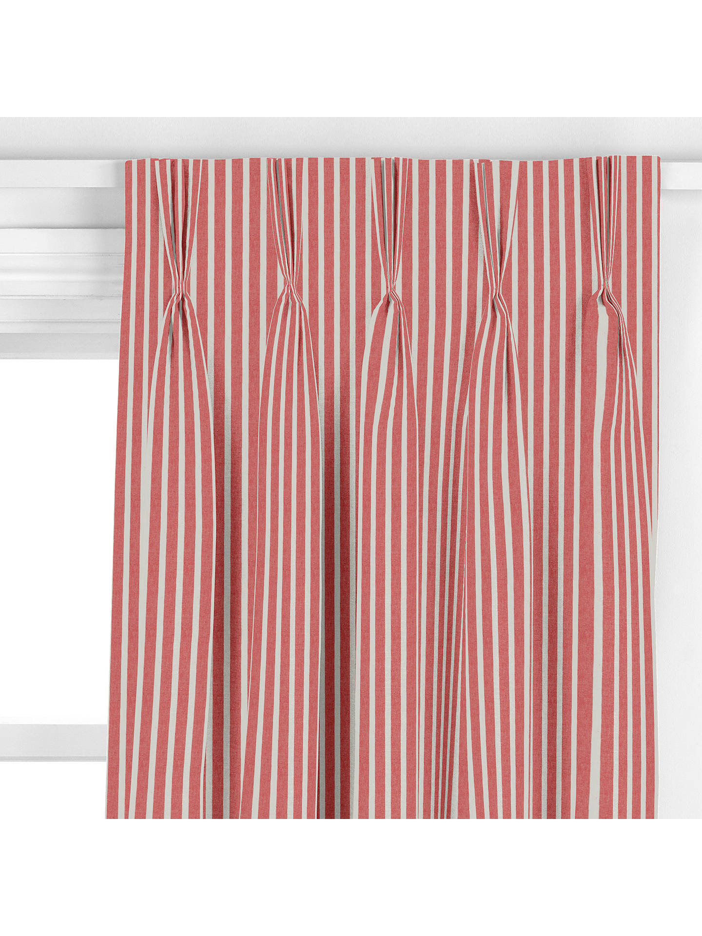 John Lewis Amp Partners Solva Stripe Curtain Red At John