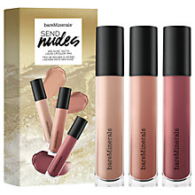 Buy bareMinerals Send Nudes Liquid Lipcolour Makeup Gift Set Online at johnlewis.com