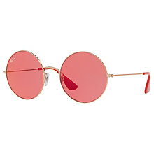 Buy Ray-Ban RB3592 Ja-Jo Round Sunglasses, Bronze/Red Online at johnlewis.com