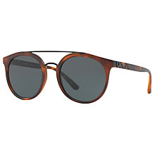 Buy Burberry BE4245 Round Sunglasses, Tortoise/Brown Online at johnlewis.com