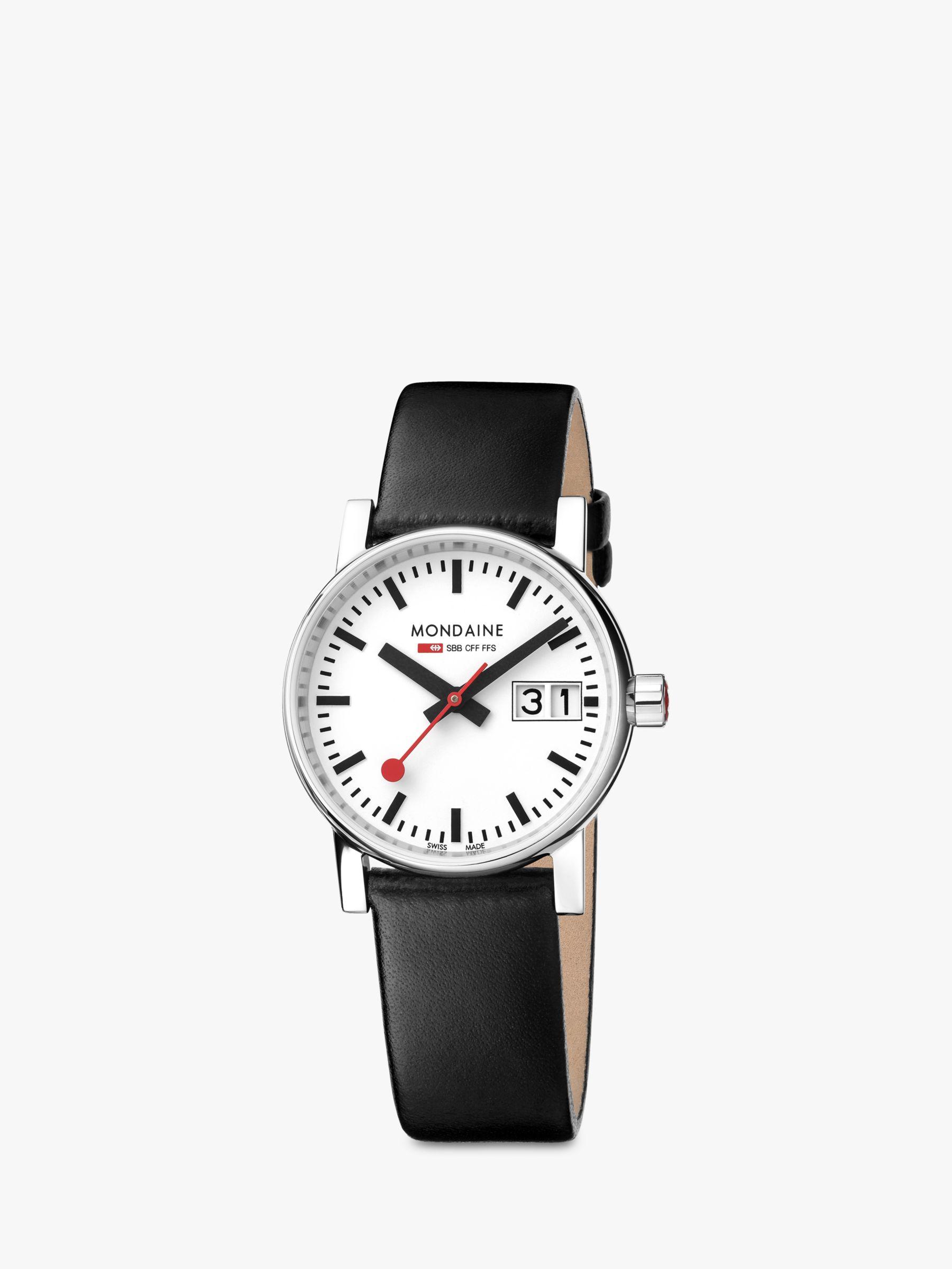 Mondaine Mondaine Unisex Evo 2 Date Leather Strap Watch