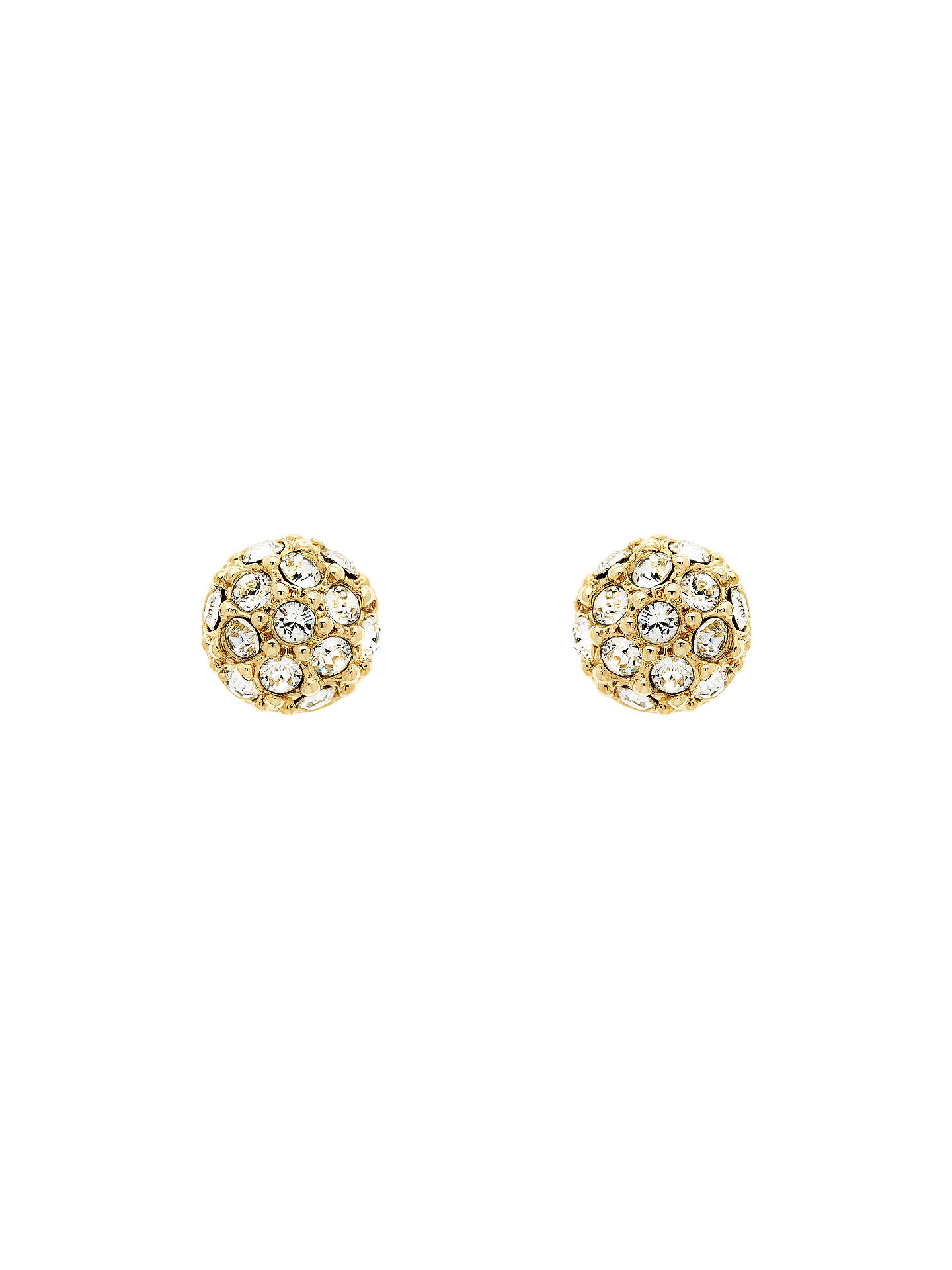 Finesse Swarovski Crystal Pave Ball Stud Earrings Gold Online At Johnlewis