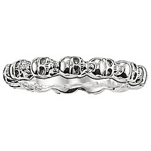 Buy Thomas Sabo Sterling Silver Rebel At Heart Miniature Skulls Ring, Silver Online at johnlewis.com
