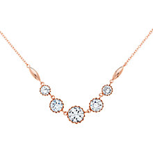 Buy Finesse Scalloped Stoned Necklace, Rose Gold Online at johnlewis.com