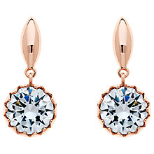 Buy Finesse Cubic Zirconia Scalloped Drop Earrings Online at johnlewis.com