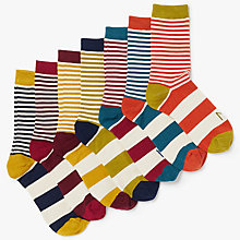 Buy Thought Week Days Bamboo Sock Gift Box, Pack of 7, Multi Online at johnlewis.com