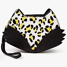 Buy bell&fox Fox Printed Pebbled Leather Cross Body Bag, Black/Sunshine Leopard Online at johnlewis.com