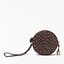 Buy bell&fox Pebble Leather Embroidered Mini Canteen Bag Online at johnlewis.com