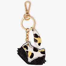 Buy bell&fox Fox Printed Pebble Leather Keyring, Black/Sunshine Leopard Online at johnlewis.com